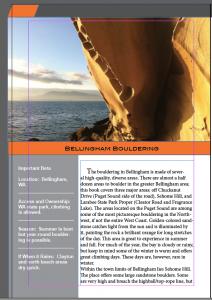 Bellingham bouldering