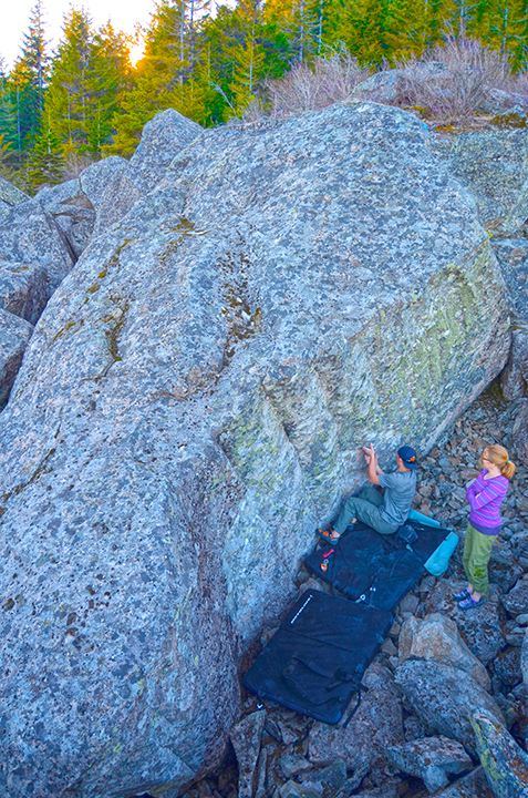Micah Klesick on an area V7 classic.